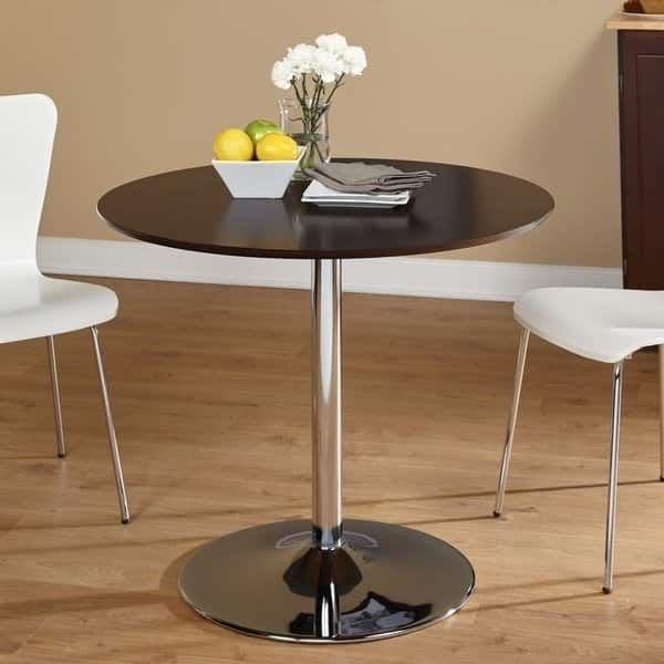 Carson Carrington Klemens Round Dining Table Gold Finish Mdf