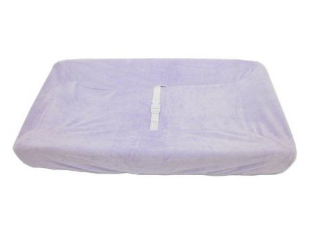 American Baby Company Heavenly Soft Chenille Fitted Contoured Changing Pad Cover in Lavendar $13 on Amazon