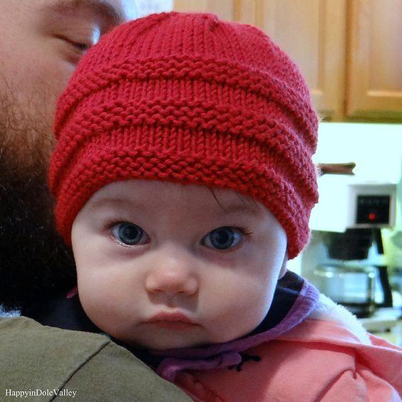 1-2-3 Knit Baby Beanie - Free Pattern - STYLESIDEA