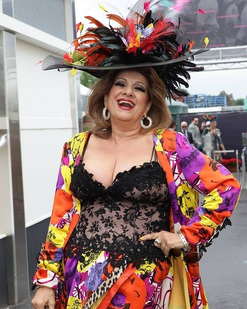 Italian Australians ~ Maria Vanuti  in the colorful outfit