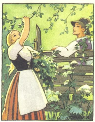 Lovely postcard from Finland. It is a reproduction of a children's book illustration.