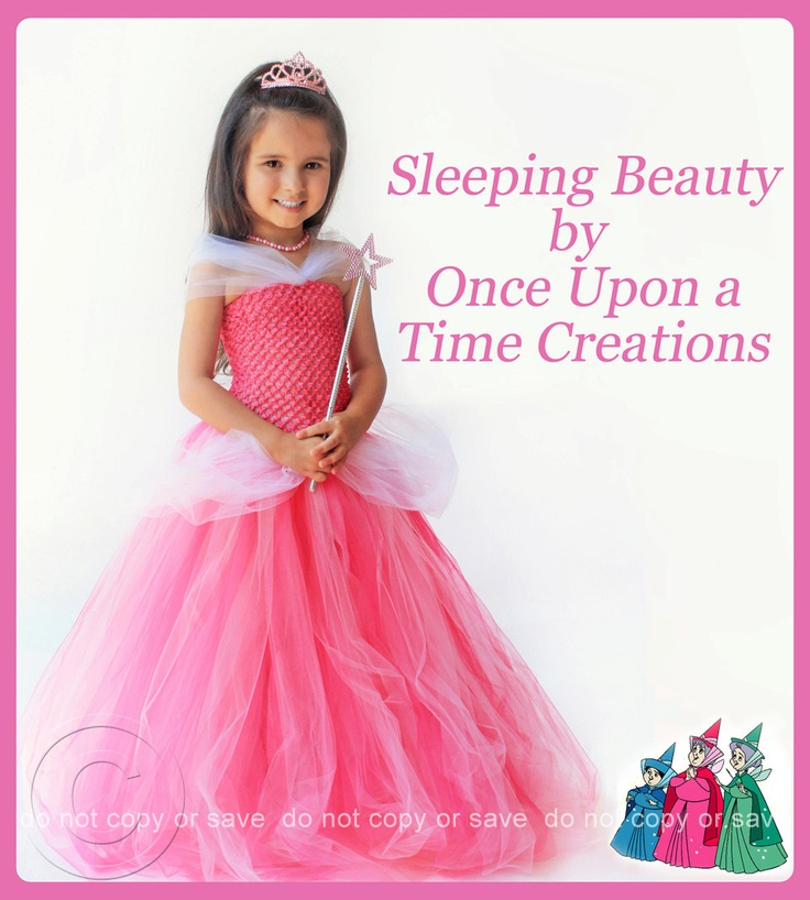 Aurora Inspired Princess Tutu Dress - Birthday Outfit, Photo Prop, Halloween Costume - 12M 2T 3T 4T 5T - Disney Sleeping Beauty Inspired. $49.99, via Etsy.