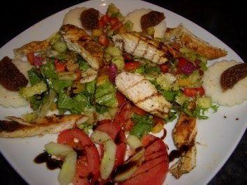 MEIN ABENDMAHL Zubereitet und angerichtet von meinem Lieblingskind DANKE Zutaten für 2 - 3 Portionen:  600 g gemischte Blattsalat d...