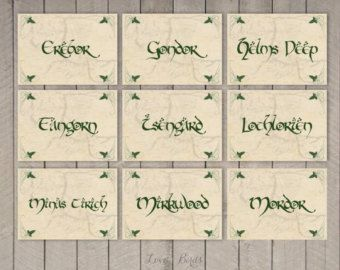Hobbit-Ahorre la fecha invitación archivo digital de RSVP de