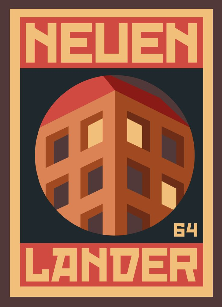 """""""NEUENLANDER 001"""" poster series, dedicated to the place, Neuenlanderstrasse 64, where I'm living during my Bremen stay. #graphicdesign #illustration"""