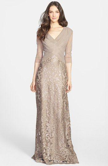 Tadashi Shoji Sequin Lace Gown on shopstyle.com