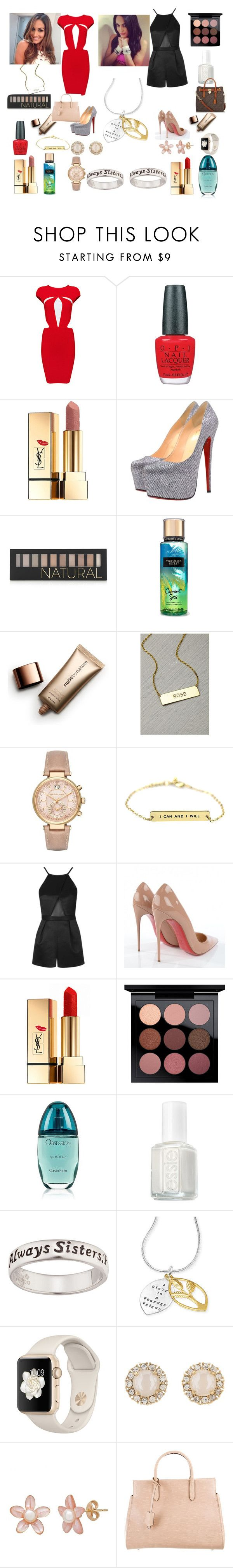 """Nikki and Brie Bella style"" by tytianabae ❤ liked on Polyvore featuring Posh Girl, OPI, Yves Saint Laurent, Christian Louboutin, Forever 21, Nude by Nature, Michael Kors, Topshop, MAC Cosmetics and Calvin Klein"