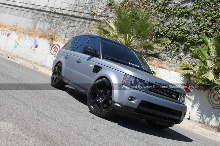2011 RANGE ROVER SPORT WRAPPED IN MATTE SILVER GREY by DBX