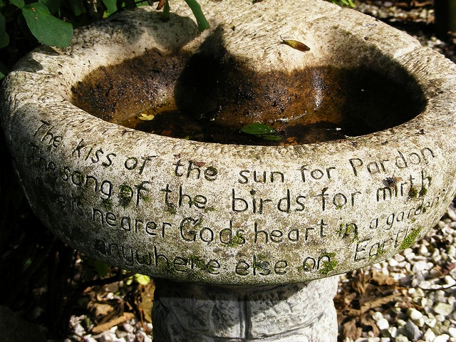 Almost Exactly The Same Bird Bath As My Father Made When I