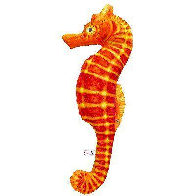 GP 175631 - Cuscino ornamentale a forma di Cavalluccio marino Arancione - H 60 cm