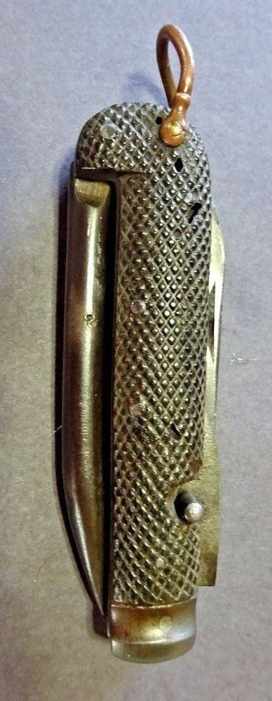 """W.W.1/2 George Wostenholm Folding Knife Marked """"C Broad Arrow""""  #IXLGeorgeWostenholmSheffieldEngland"""