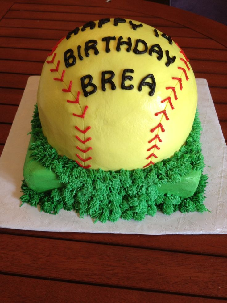Best 25 Softball Birthday Cakes Ideas On Pinterest