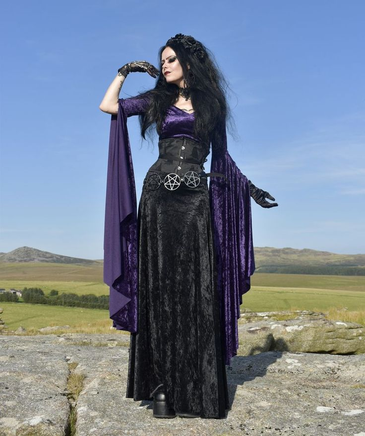 Velvetwitch Skirt - crushed velvet goth witch skirt by Moonmaiden Gothic Clothing UK #womensGothicdress