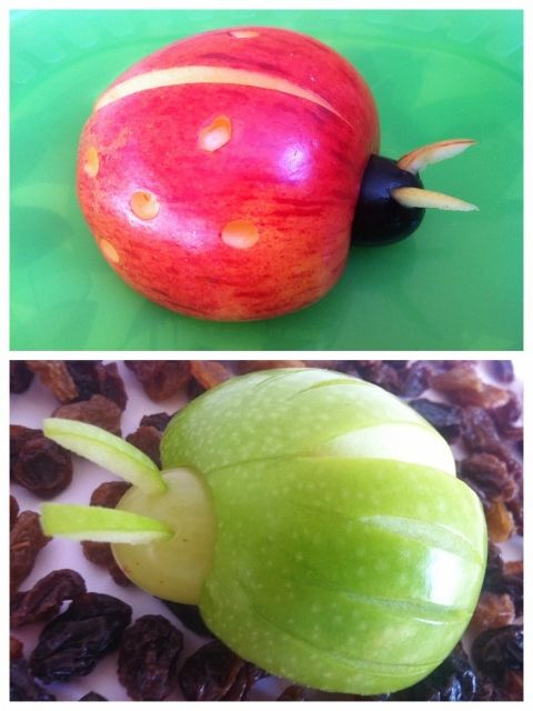 Very cute apple bugs. Great for the kids to make and healthy too.