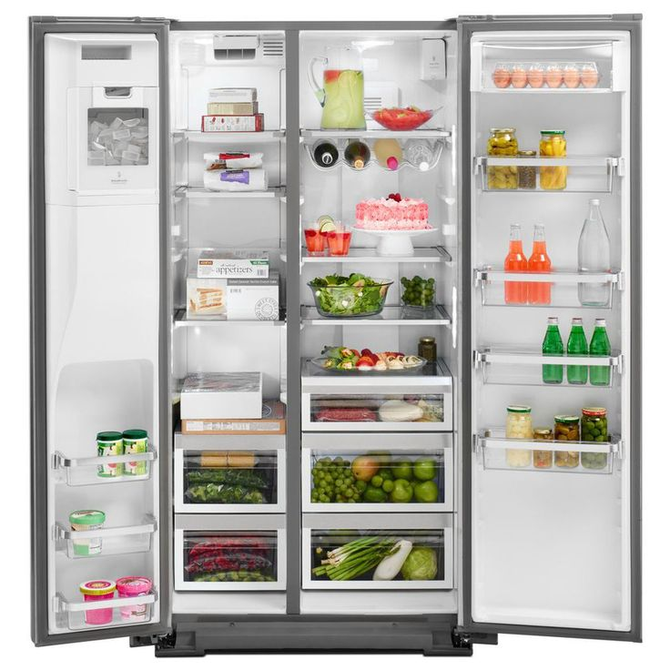Shop KitchenAid 22.6-cu Ft Counter-Depth Side-By-Side Refrigerator With Single Ice Maker