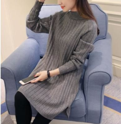 メルカリ商品: セーターニット ロング丈 重ね着 着痩せ ワンピース 秋冬ファッション #メルカリ