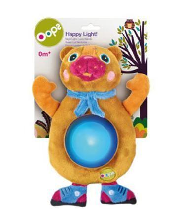 """Игрушка мягконабивная - ночник """"Медвежонок"""",  Oops  — 990р. ---- Мягкий ночничок в виде забавного медвежонка  поможет вашему малышу быстро заснуть. С  такой мягкой и приятной на ощупь игрушкой  малышу будет приятно и спокойно, как днём  во время игры, так и ночью. Медвежонок станет  любимой игрушкой для сна, потому что с ним  спокойной и чувствуешь, будто рядом солнышко.  В процессе игры развивается крупная и мелкая  моторика, цветовое восприятие, координация  движений, тактильные ощущения."""