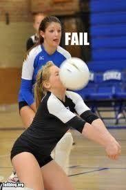 Volleyball fail!! I was soooo close!!
