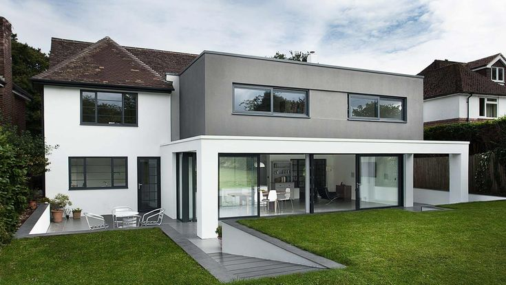 Like the juxtaposition of modern extension against original house