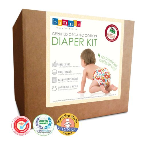 Organic Cotton Diaper Kit - Cloth Diapers - Bummis