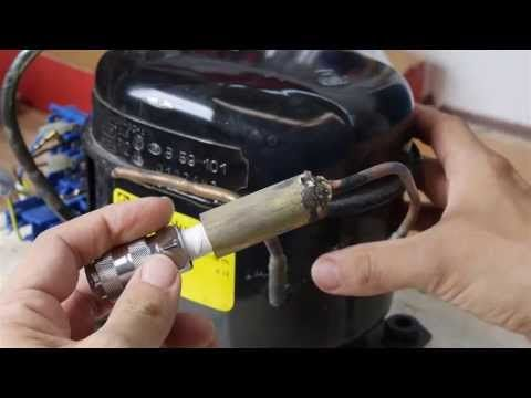 435 psi (30 bar) Compressor from a Refrigerator Motor - YouTube