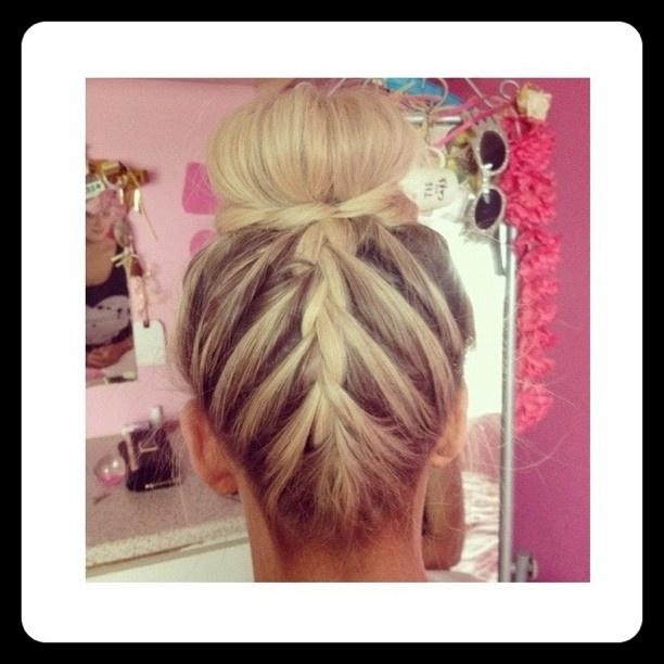 reverse braid, bun maker, twist hair around base