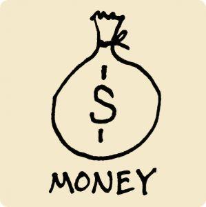 money, bag, dollars