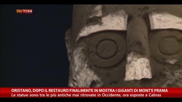Oristano, dopo restauro in mostra i giganti di Mont'e Prama