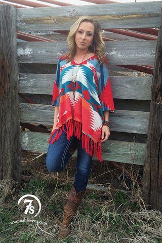 The Rio Rojo – Tasha Polizzi poncho from Savannah Sevens Western Chic