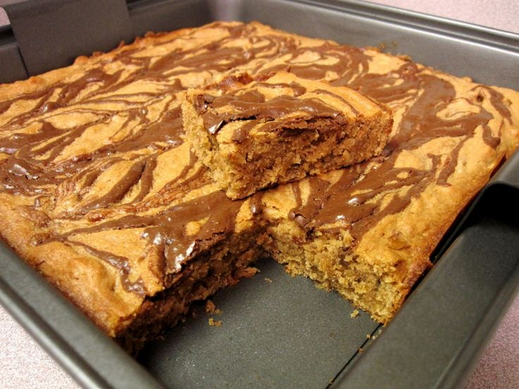 Peanut Butter, Banana & Nutella Bars   The Spiffy Cookie