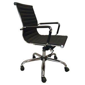 Sillón ejecutivo en curpiel en color negro Modelo. B05