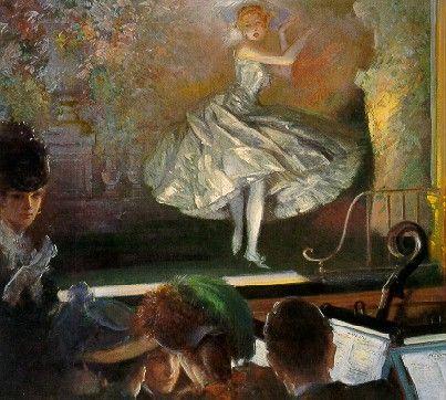 Everett Shinn - Bailarina de blanco, 1910