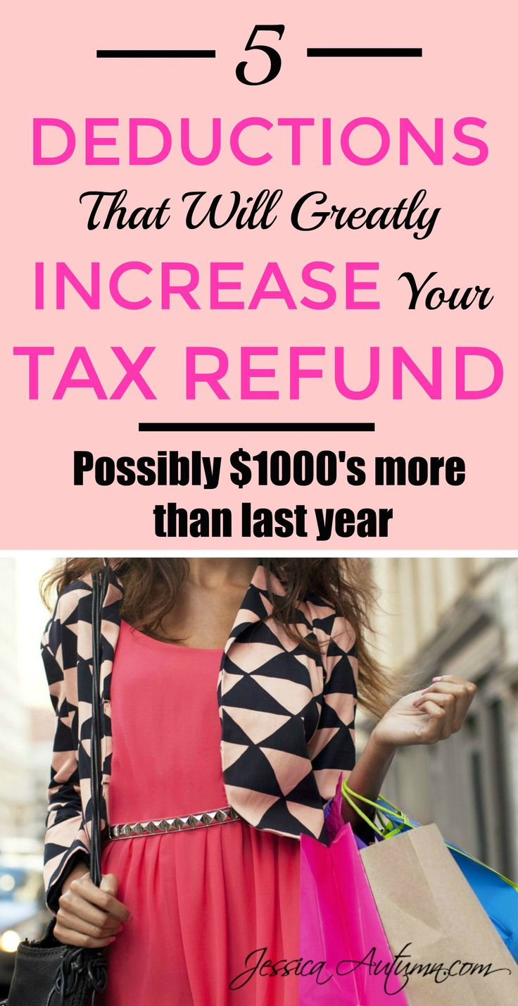 5 Deductions That Will Greatly Increase Your Tax Refund. AMAZING! I am certainly no tax expert but this article was very easy to understand. All these years I had no idea I could get extra cash back from writing off these things. Thanks for the tips!