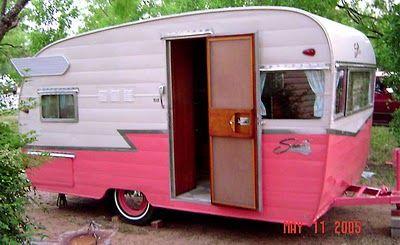 Hot pink Shasta trailer!