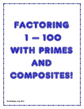 Worksheets Factors 1-100 1000 ideas about composite numbers 1 100 on pinterest students draw arrays for 30 and list factors of all numbers