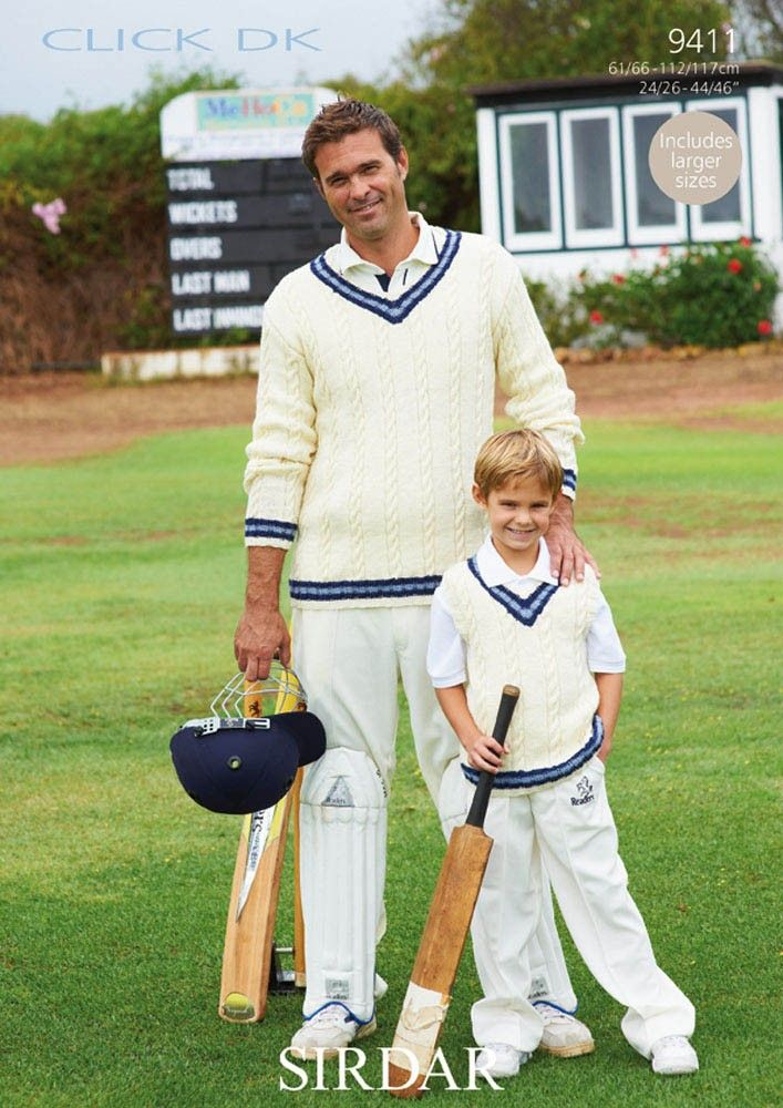 Cricket Jumpers and Vests in Sirdar Click DK - 9411