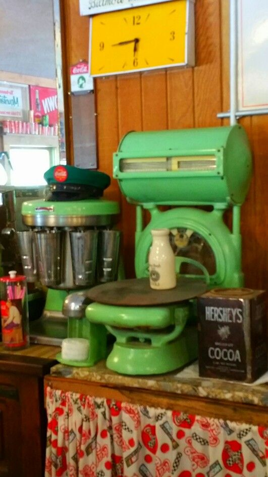 vintage milkshake machine and vintage scales via robin shake - Milkshake Machine