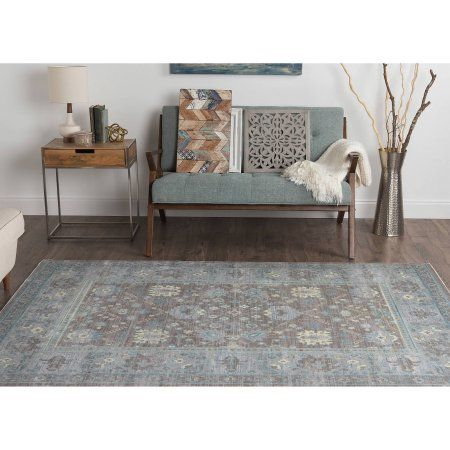 Bliss Rugs Vienna Traditional Area Rug, Beige
