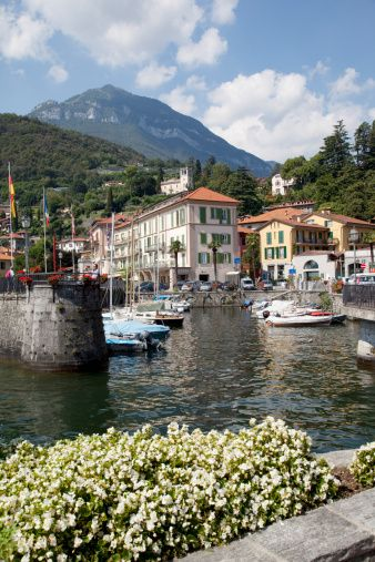 Town and harbour, Menaggio, Lake Como, Lombardy, Italian Lakes, Italy, Europe