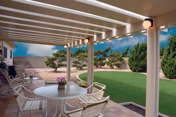 cover idea patio design Solid Skylights Patio Covers Design | Landscape