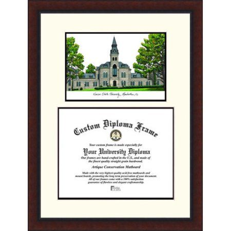 university of kansas 85 inch x 11 inch legacy scholar diploma frame multicolor - Diploma Frames Walmart