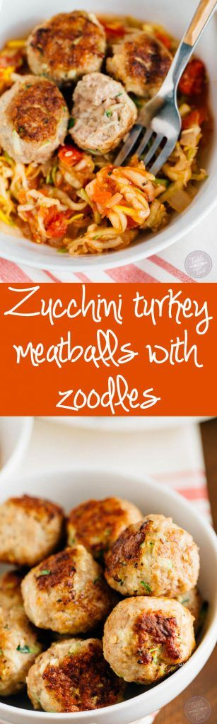You'll want to make a large batch of these zucchini turkey meatballs. They're SO moist and you can freeze half the meatballs then use them to top over a savory zoodle dish later! Paleo-friendly never tasted so good!