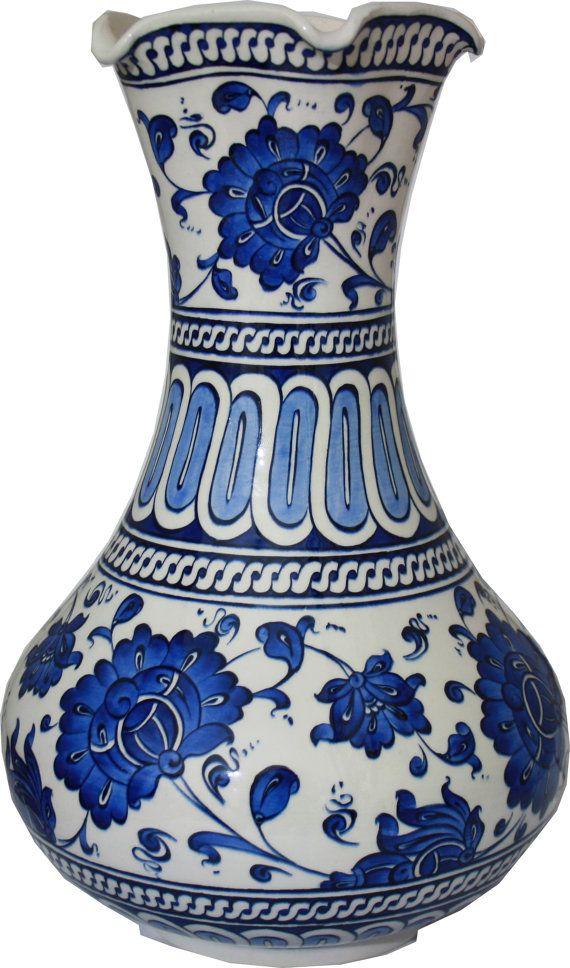 Ceramic Vase Original Iznik Tiles Home Dekor by NiceaCeramics, $350.00