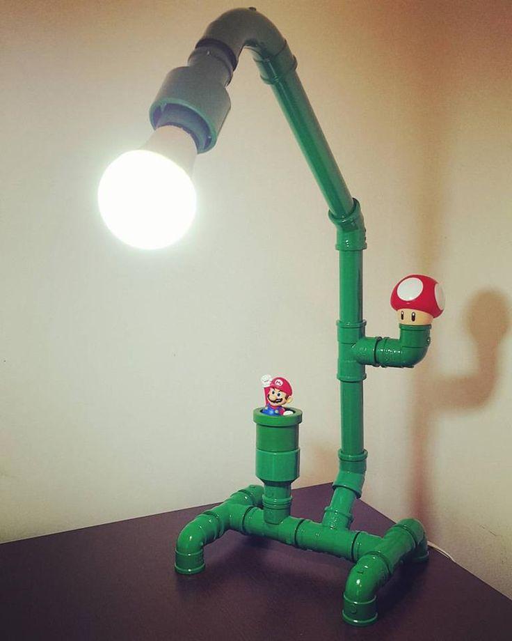 DIY - Luminária de Mesa Mario Bros