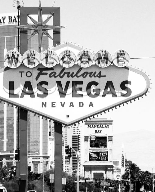 Welcome To Las Vegas Sign On Black Background Royalty Free ...