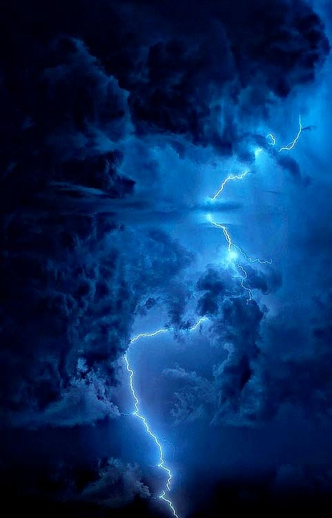 Building storm and lightening.     Don't let DENIAL build until awareness must break through with gathering disturbed emotions  and whipping up attitudes that lash out until ...crack, ...lightening breaks through with truth. Ah, such sweet surrender ...truth. Make peace with where you are, and begin again.