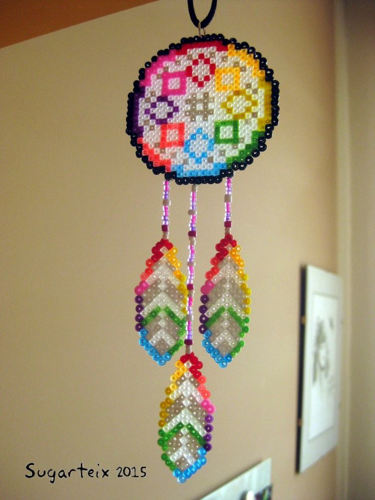 Dreamcatcher hama mini beads by Sugarteix
