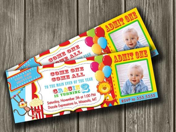 circus bday invite