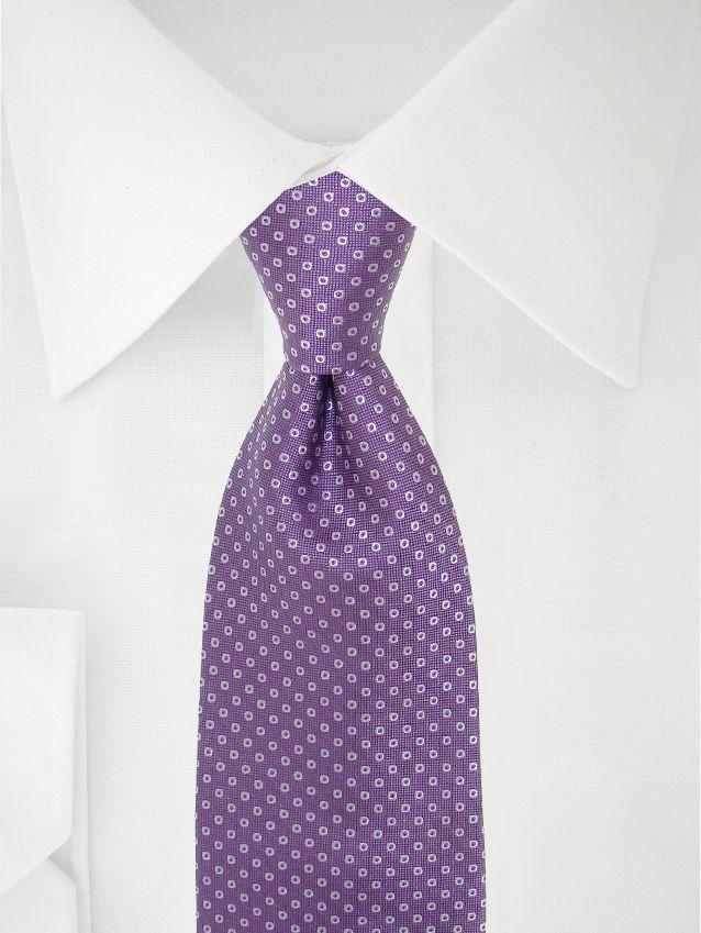 Cravate Violette À Pois