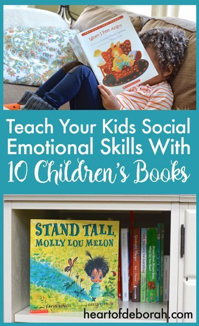 A former school psychologist recommends 10 books to teach elementary age children social emotional skills such as coping with worry and respecting others.